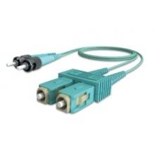 Jarretière duplex multimode OM3 50/125 SC/ST 2m