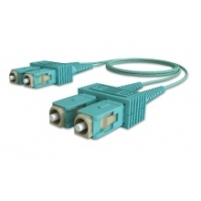 Jarretière duplex multimode OM3 50/125 SC/SC 2m