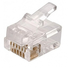 Plug câble plat RJ12 6/6 (lot de 100)