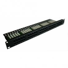 Panneau téléphonique 50 ports RJ45 Contact CAD 1U 3-6/4-5/7-8