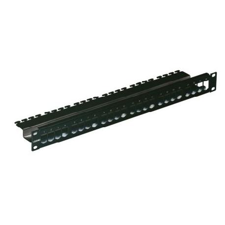 Panneau 24 ports non équipé - 1U - Noir RAL900