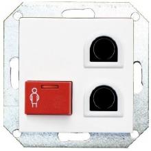 ICall 335 LB-OEE bouton BUS tête de lit 2 entréemini din 1 bp d'appel rouge